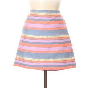 J. Crew Stripes A-Line Skirt